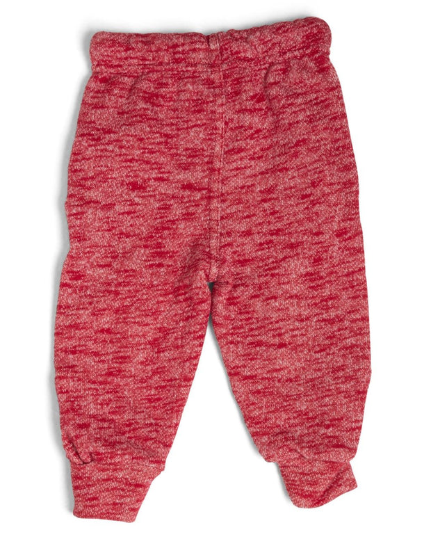 French Terry Kid's Moto Sweatpants - Red
