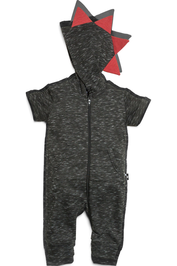 French Terry Zip Up Dino Hoodie