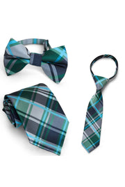 Forest & Navy Plaid Tie