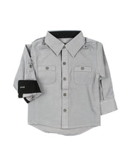 Long Sleeve Canvas Dress Shirt