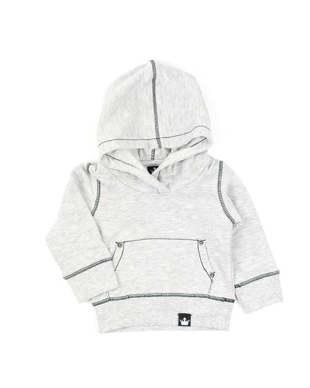 Gray Pullover Hoodie