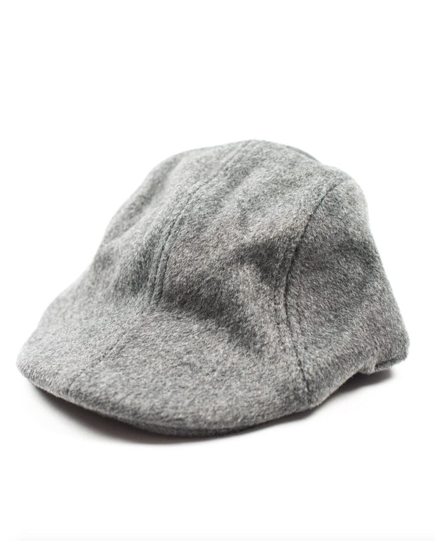 Gray Wool Newsboy Hat