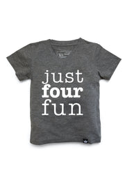 Just Four Fun Birthday Graphic Tee