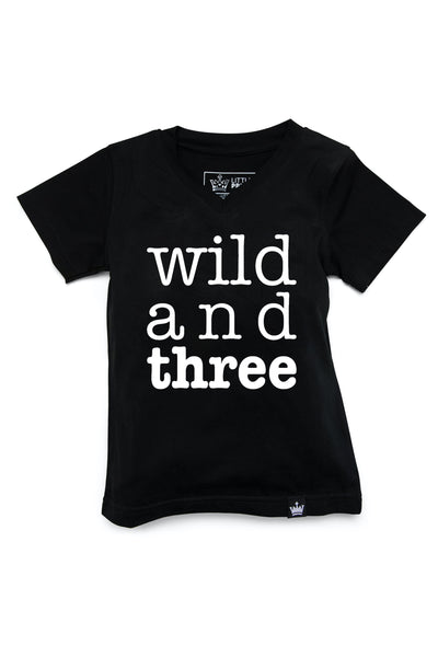 Wild and Three Birthday Graphic Tee