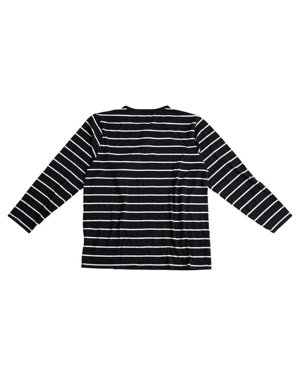 Thick Black Stripe Men's Henley Shirt