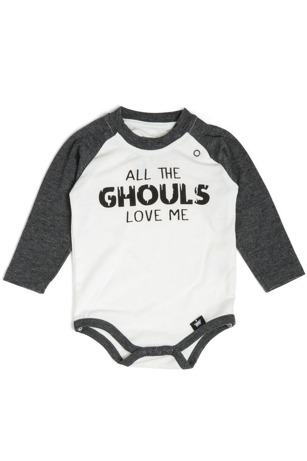 All The Ghouls Love Me Charcoal Raglan