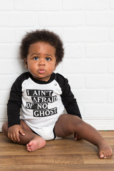I Ain't Afraid of No Ghost Black Raglan