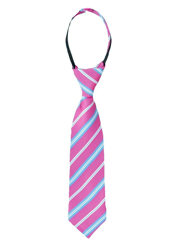 Hot Pink and Blue Stripe Tie