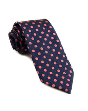 Indigo and Rose Dot Standard Necktie (Adult and Youth)