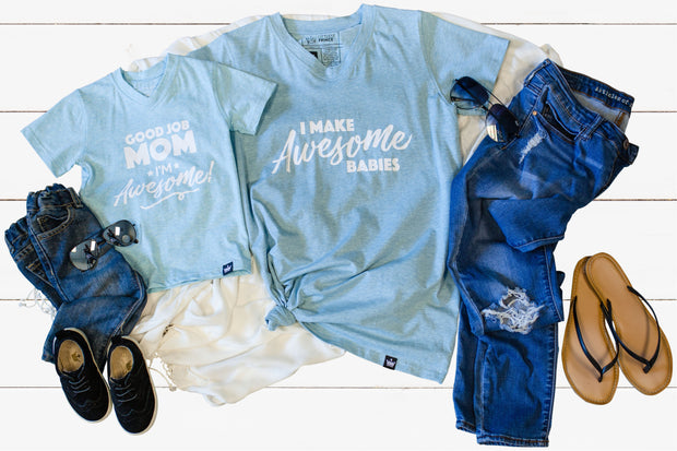 Awesome - Mommy & Me Matching Tees