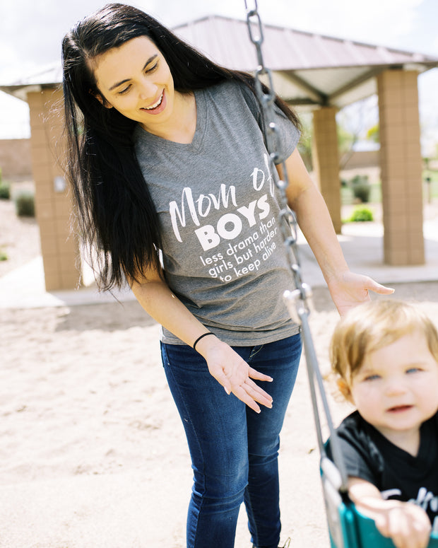 Mom Of Boys - Mommy & Me Matching Tees