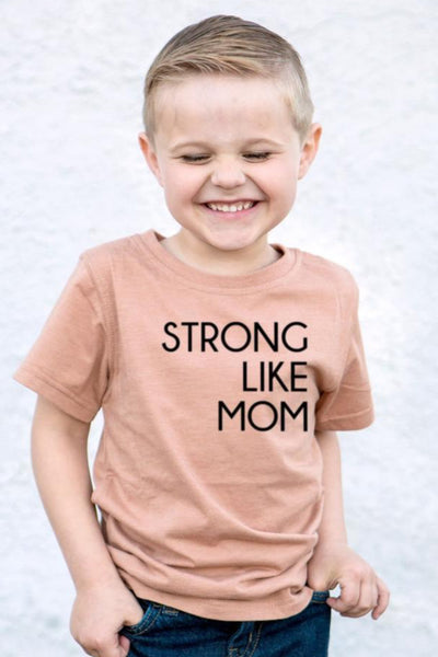 Strong Like Mom Camel Crew Neck Tee