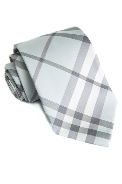 Ice & Ash Plaid Tie