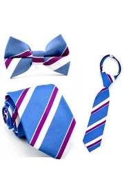 Indigo and Berry Stripe Tie