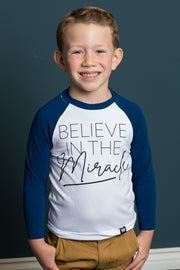 Believe in the Miracle Raglan