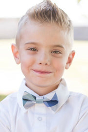 Jade and Blue Check Bow Tie (Boys and Men)