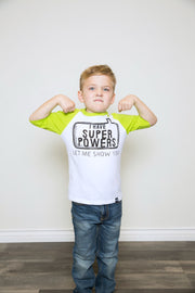 I Have Super Powers Raglan