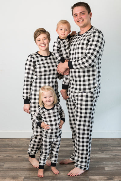 Black & Cream Buffalo Matching Family Pajamas