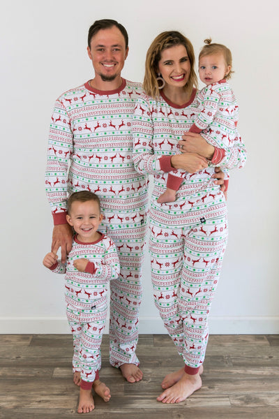 Red & Green Nordic Matching Family Pajamas