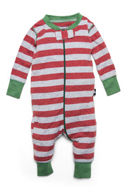 Red & Gray Stripe Matching Family Pajamas