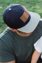 Best Dad Ever Snapback Hat in Navy