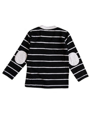 Thick Black Stripe Long Sleeve Cardigan Shirt