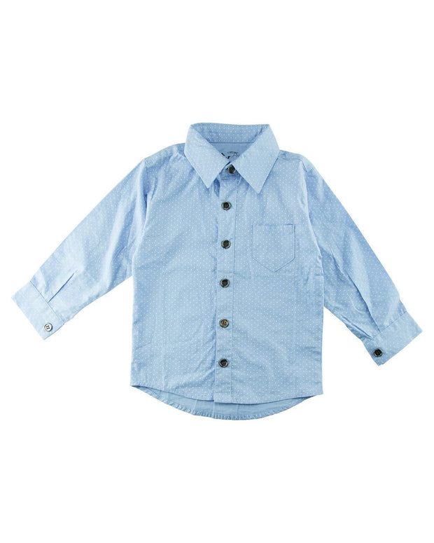 Blue Dots Long Sleeve Dress Shirt