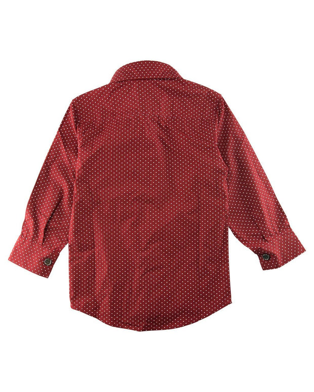 Red Dots Long Sleeve Dress Shirt