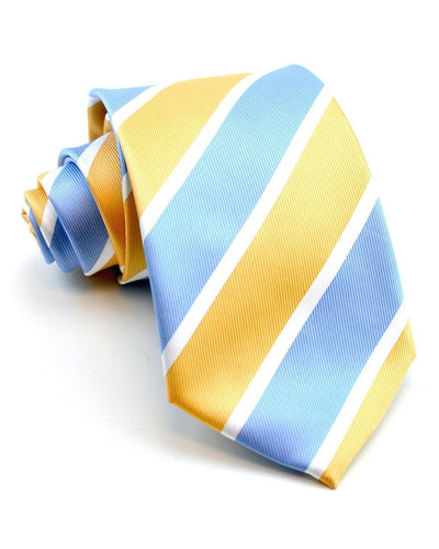 Light Blue and Peach Stripe Standard Necktie
