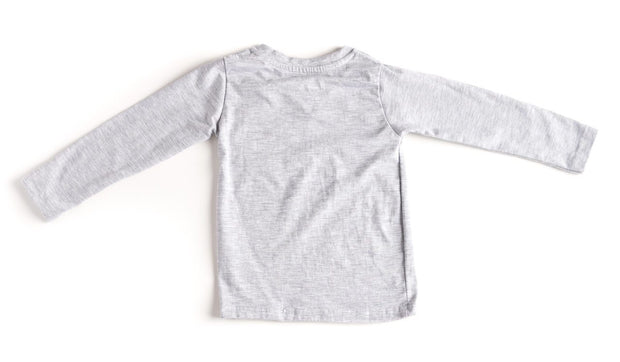 Long Sleeve Gray V-Neck Pocket Tee