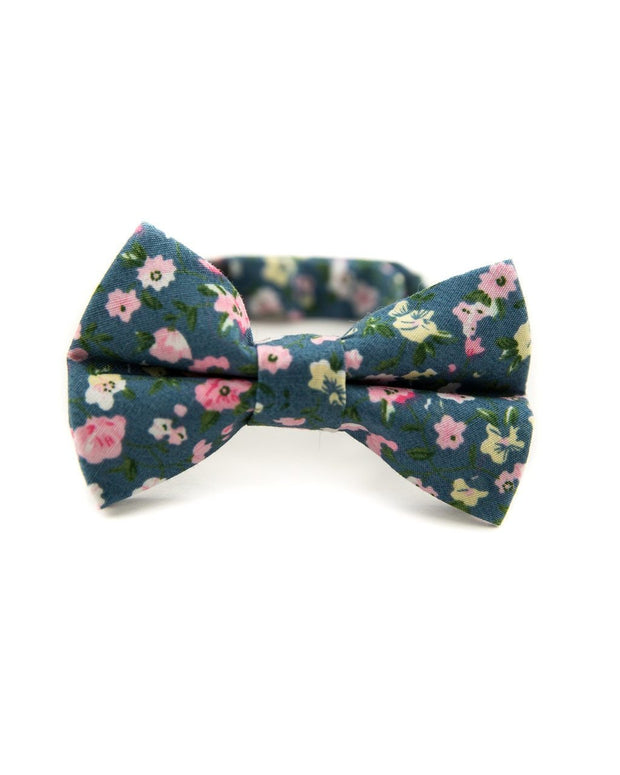 Blush and Blue Floral Bow Tie (Boys and Men)