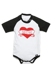Mom Tattoo Raglan