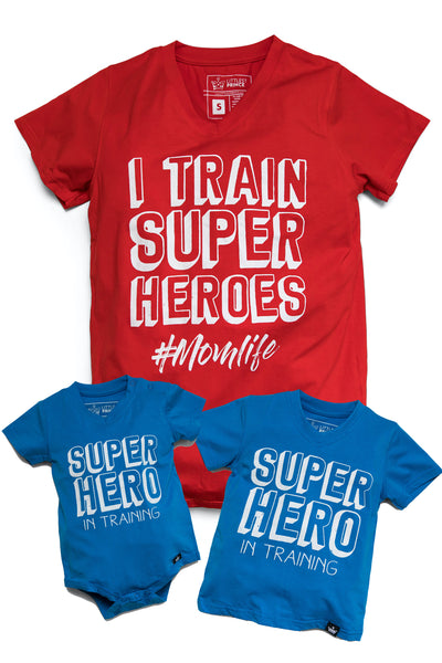 Super Hero - Mommy & Me Matching Tees