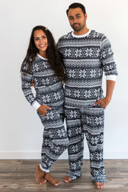 Charcoal Snowflake Matching Family Pajamas