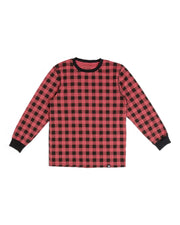 Red & Black Buffalo Check Matching Family Pajamas