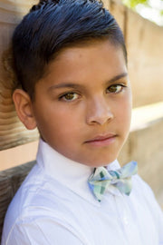 Mist and Moss Plaid Bow Tie (Boys and Men)