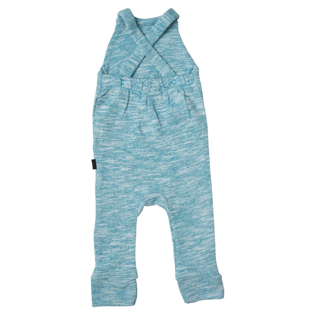 Blue French Terry Overall Romper