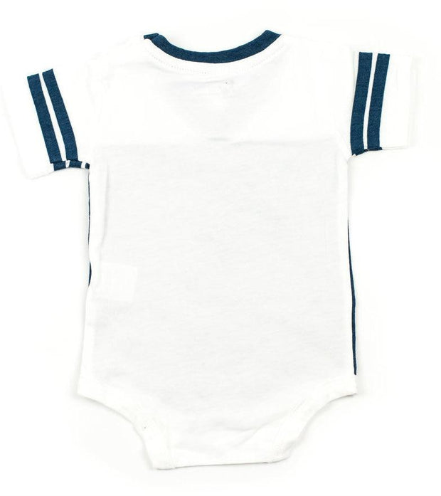 Navy & White Jersey Bodysuit