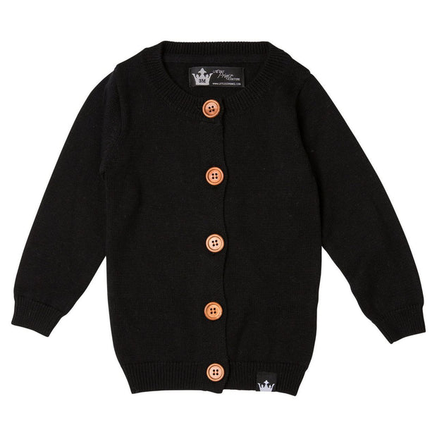 Black Cardigan Sweater & T-Shirt | 2 Piece Set