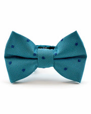 Peacock and Navy Dot Bow Tie (Boys and Men)