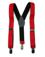 Red & White Dots Suspenders