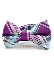 Raspberry Ice Plaid Bow Tie (Boys and Men)