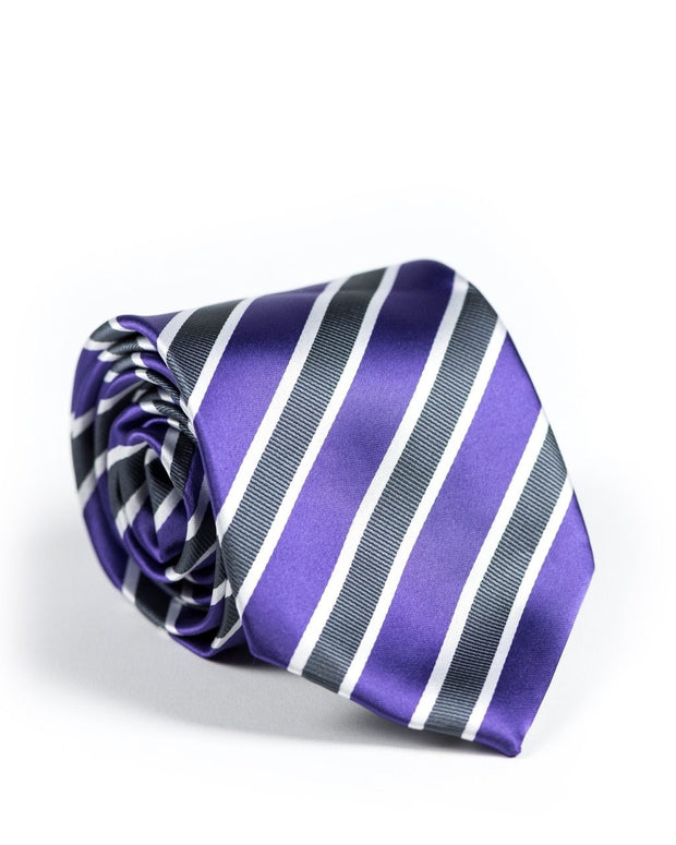 Royal Purple Stripe Standard Necktie