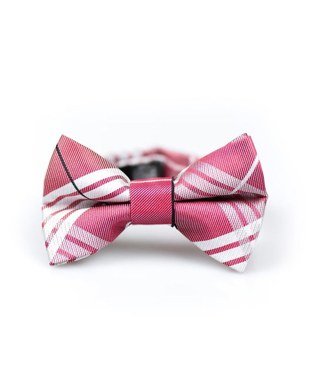 Ruby and White Plaid Bow Tie (Boys and Men)
