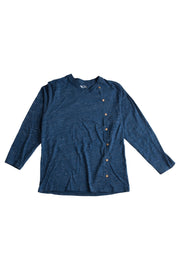 Long Sleeve Side Button V-Neck