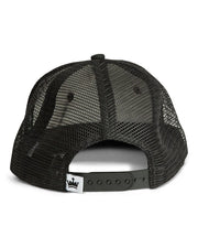 Black Mesh Mom Tattoo Snapback Hat