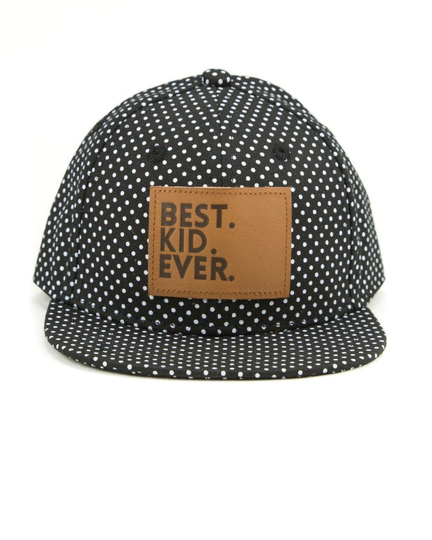 Best Kid Ever Snapback Hat in Black Dot