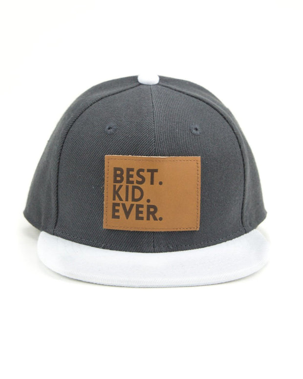 Best Kid Ever Snapback Hat in Charcoal
