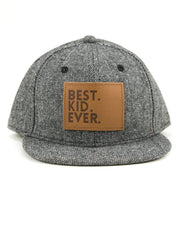 Best Kid Ever Snapback Hat in Tweed