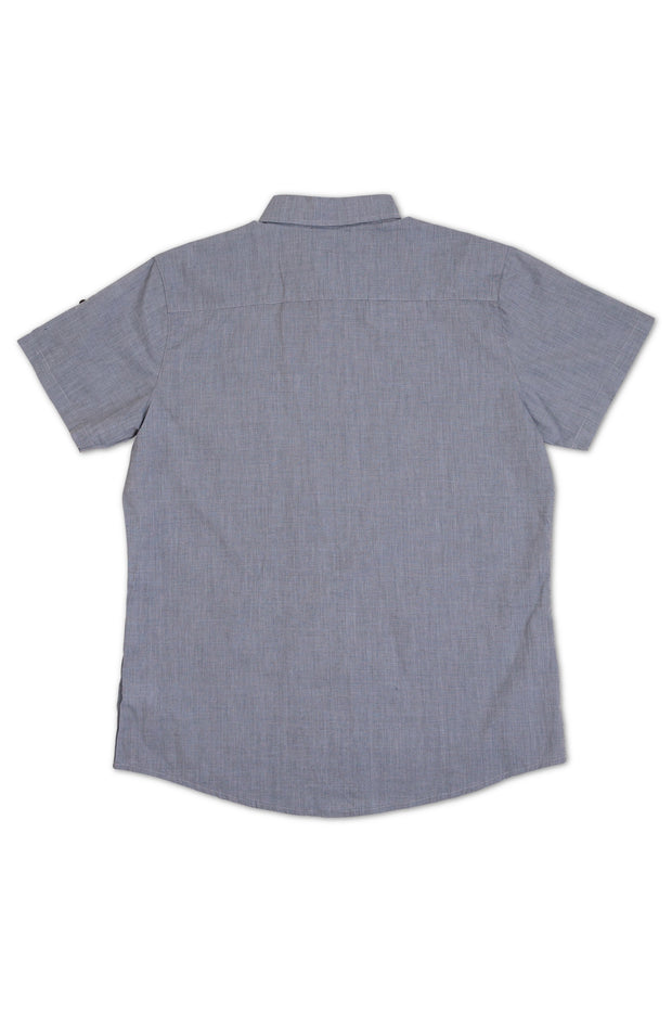 Chambray Short Sleeve Dress Shirt